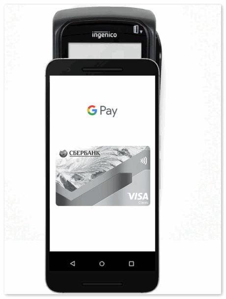 Оплата в магазине через Google Pay