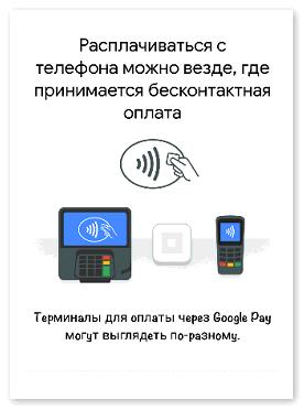 Терминалы для оплаты через Google Pay