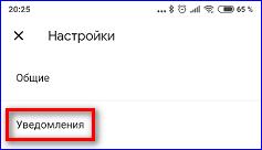 Пункт настроек уведомлений в Гугл Пей