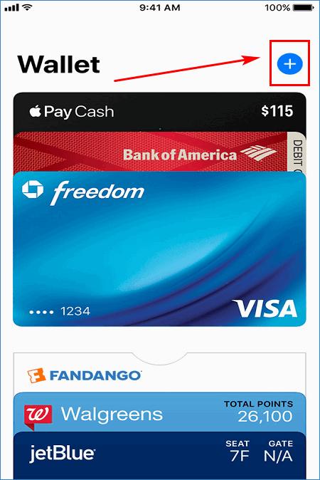 Добавление карты в Wallet