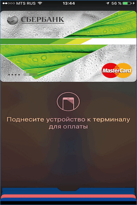 Начало оплаты через Apple Pay