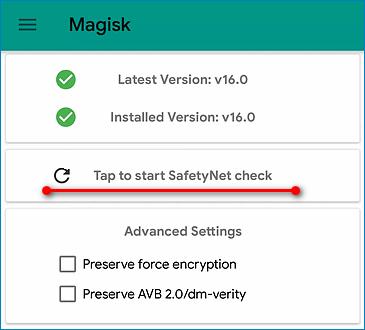 SafetyNet Magisk