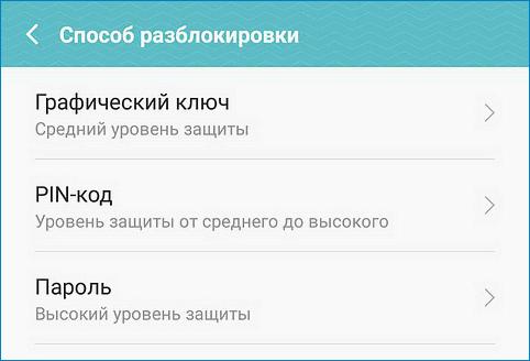 Вариант блокировки Android Pay