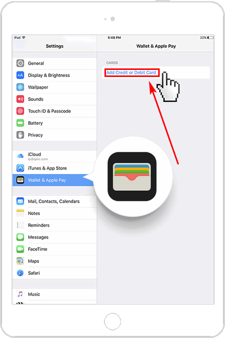 Wallet на iPad для Apple Pay