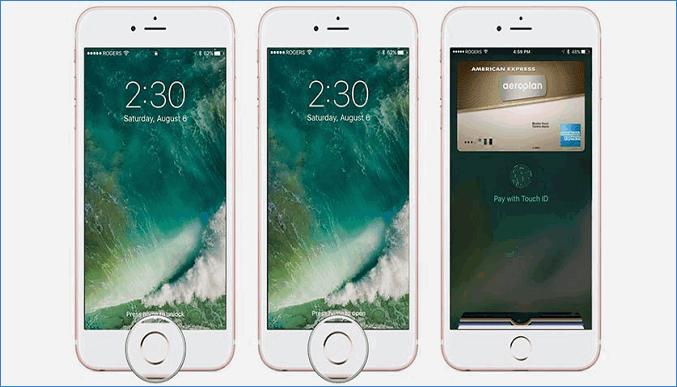 Использование Apple Pay на заблокированном экране