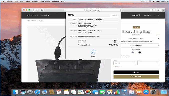Оплата ApplePay на Mac