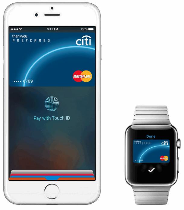 Оплата картой Ситибанка по Эппл Пэй