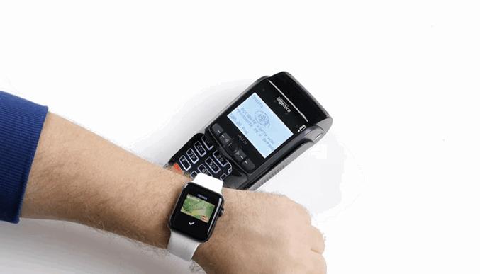 Процесс оплаты через ApplePay на Apple Watch