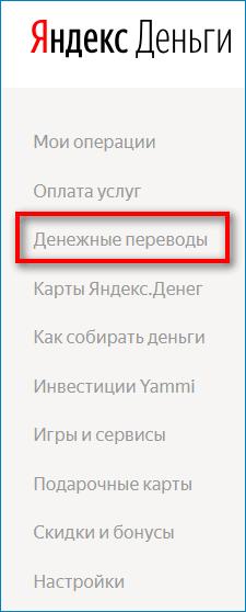 Денежные переводы в Яндекс Кошельке