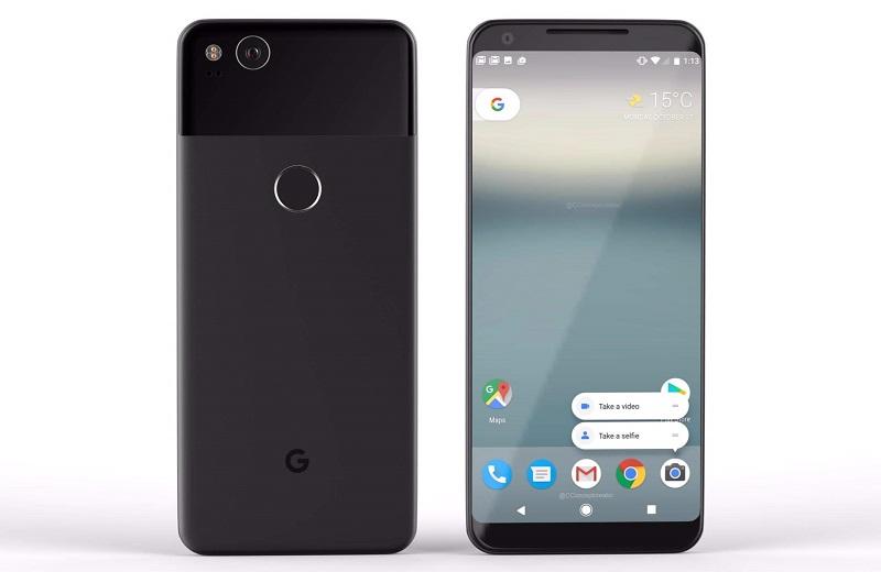 Google Pixel 2 XL со сканером пальцев