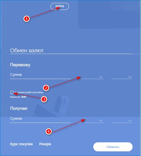 обмен через яндекс вебмани