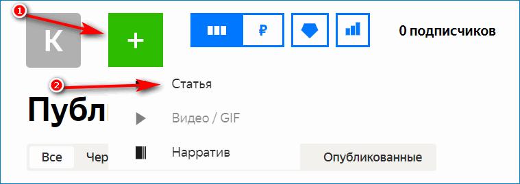 Первая статья на Яндекс.Дзен
