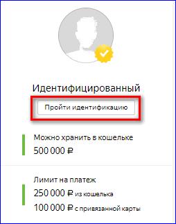 Пройти идентификацию в Яндекс деньги