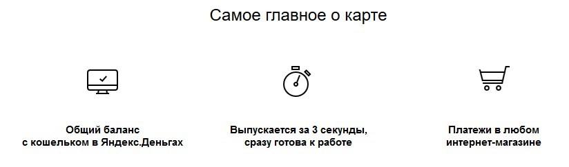 Самое главное о виртуальной карте Яндекс.Деньги