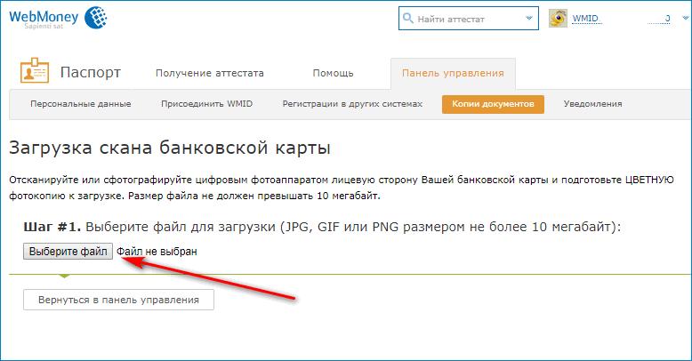 шаг1 регистрации вебмани