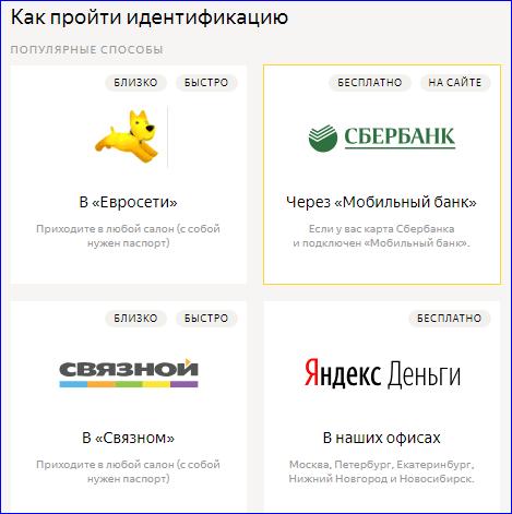 Способы идентификации Яндекс Кошельков