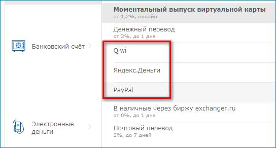 Вывод на электронные кошельки WebMoney