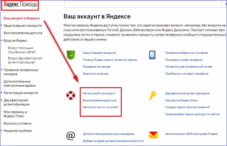 Яндекс помощь в системе Яндекс