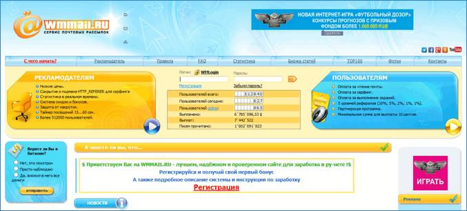 Сайты-почтовики для заработка на WebMoney