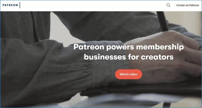 Веб-сайт Patreon