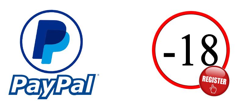 Как зарегистрироваться в PayPal если нет 18
