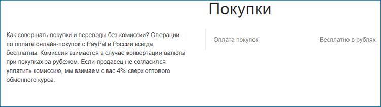 Комиссия PayPal в России