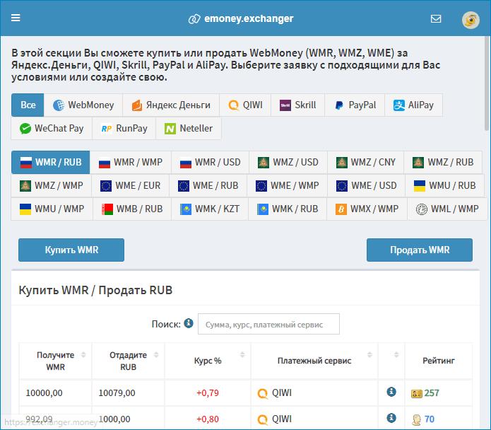 Обмен WMZ на PayPal через Вебмани