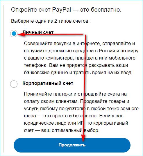 Открытие личного счета в PayPal в Беларуси