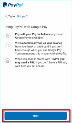 Подтвердить действие в Google Pay