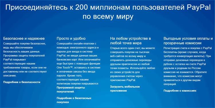 Преимущества PayPal