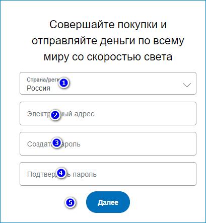 Регистрация в платежной системе ПейПал